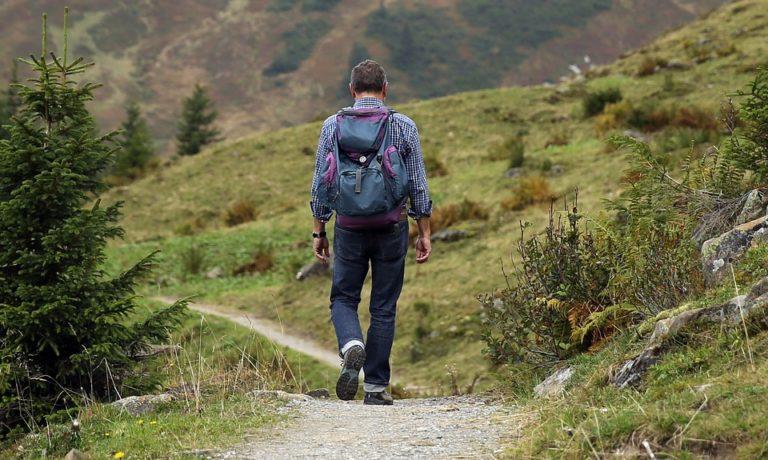 hiking trip guy