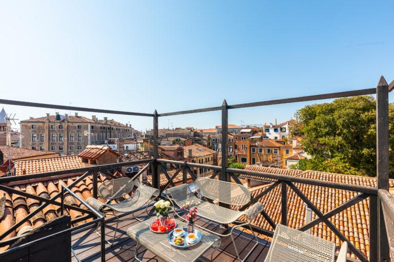 Italian balcony overlooking city